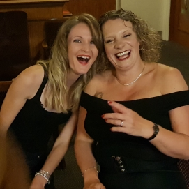 Two Sandys enjoy a giggle